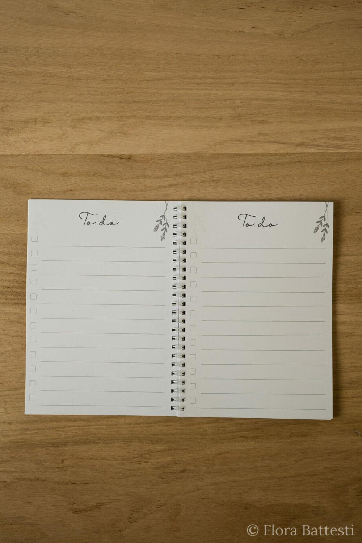 Pages carnet de choses à faire