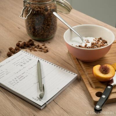 Carnet de recettes avec bol